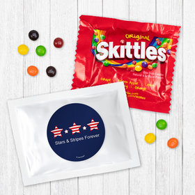 Personalized Patriotic Stars and Stripes - Skittles