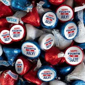 Patriotic Hershey's Kisses Candy with 4th of July Stickers