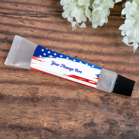 Hand Sanitizer Tube Personalized Patriotic Stars and Stripes 0.5 fl. oz.