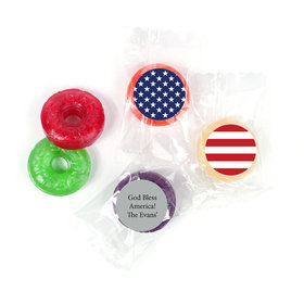 Personalized Patriotic American Flag LifeSavers 5 Flavor Hard Candy