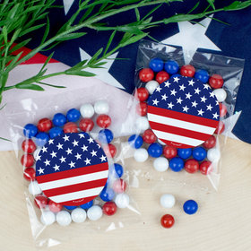 Patriotic Flag Candy Bags with Sixlets