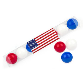 Independence Day American Flag Gumball Tube
