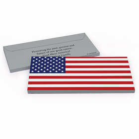 Deluxe Personalized American Flag Candy Bar Favor Box