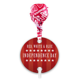 Independence Day Freedom Dum Dums with Gift Tag (75 pops)