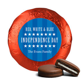 Personalized Patriotic Freedom Belgian Chocolate Covered Oreos (24 Pack)