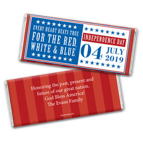 Personalized Freedom Patriotic Chocolate Bar Wrappers