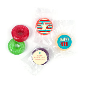 Personalized 4th of July Star Spangled Stripes LifeSavers 5 Flavor Hard Candy