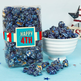 4th of July Star Spangled Stripes Candy Coated Popcorn 8 oz Bags