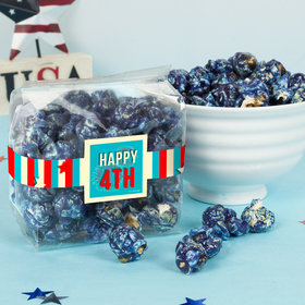 4th of July Star Spangled Stripes Candy Coated Popcorn 3.5 oz Bags