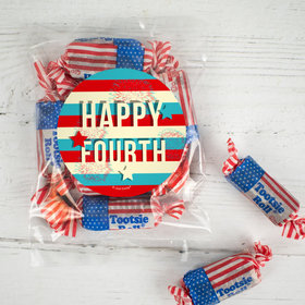 Star Spangled Stripes Candy Bags with Tootsie Roll Stars & Stripes Midgees