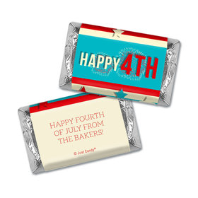 Personalized 4th of July Star Spangled Stripes Hershey's Miniatures