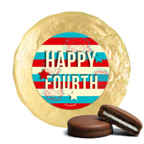 4th of July Star Spangled Stripes Milk Chocolate Covered Foil Oreos