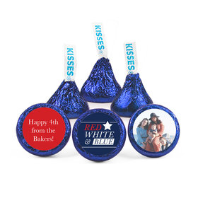 Personalized Independence Day All-American Photo Hershey's Kisses (50 pack)