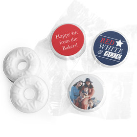 Personalized 4th of July All-American Photo Life Savers Mints