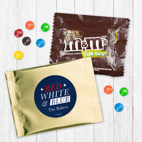 Personalized Patriotic Red White and Blue - Milk Chocolate M&Ms