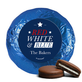 Personalized 4th of July All-American Milk Chocolate Covered Foil Oreos
