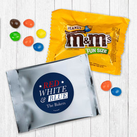 Personalized Patriotic Red White and Blue - Peanut M&Ms