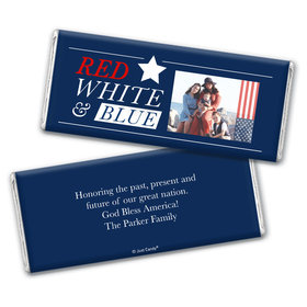 Personalized 4th of July All-American Photo Chocolate Bar Wrappers Only