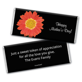Mother's Day Personalized Chocolate Bar Watercolor Daylily
