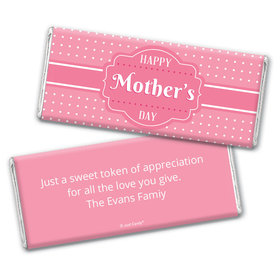 Mother's Day Personalized Chocolate Bar Tiny Polka Dots and Pink