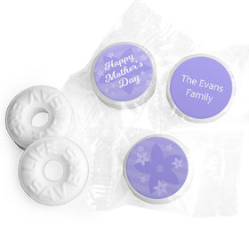 Personalized Mother's Day Purple Flowers Theme Life Savers Mints