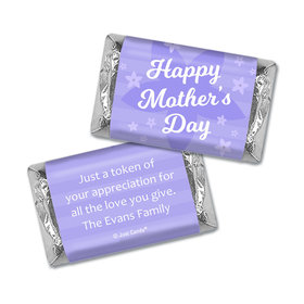 Personalized Mother's Day Purple Flowers Hershey's Miniatures Wrappers