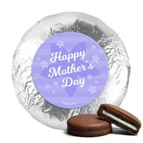 Mother's Day Purple Flowers Theme Milk Chocolate Covered Oreos
