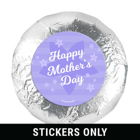 "Mother's Day Purple Flowers Theme 1.25"" Stickers (48 Stickers)"