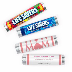Personalized Mother's Day Mom Heart Lifesavers Rolls (20 Rolls)