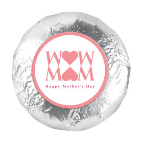 1.25in Stickers - Mother's Day Mom Heart (48 Stickers)