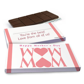 Deluxe Personalized Heart Mother's Day Chocolate Bar in Gift Box (3oz Bar)