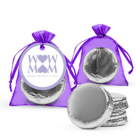 Mother's Day Heart Milk Chocolate Covered Oreo in Organza Bags with Gift Tag