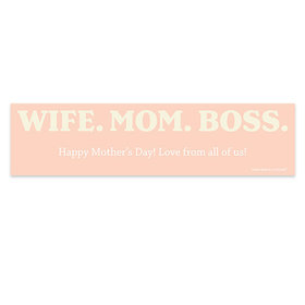 Personalized Mother's Day Wife Mom Boss 5 Ft. Banner