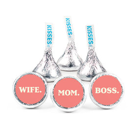 """Mother's Day Wife. Mom. Boss. 3/4"""" Stickers (108 Stickers)"""