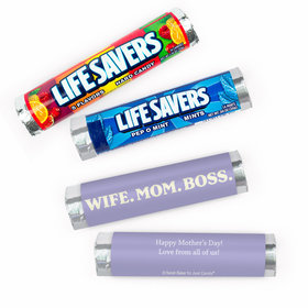 Personalized Mother's Day Wife. Mom. Boss. Lifesavers Rolls (20 Rolls)