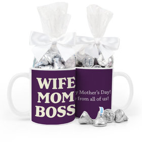 Mother's Day Wife Mom Boss 11oz Mug with 1/2lb KISSES