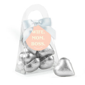 Mother's Day Wife Mom Boss Chocolate Hearts Purse and Gift Tag
