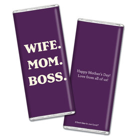 Personalized Mother's Day Wife Mom Boss Chocolate Bar