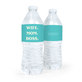 Personalized Mother's Day Wife Mom Boss Water Bottle Labels (5 Labels)