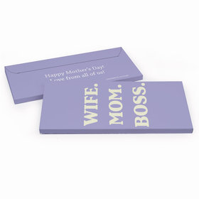Deluxe Personalized Wife Mom Boss Mother's Day Chocolate Bar in Gift Box