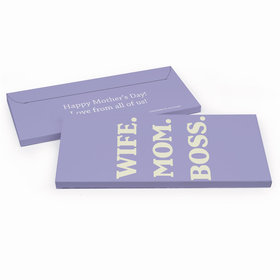 Deluxe Personalized Wife Mom Boss Mother's Day Candy Bar Favor Box