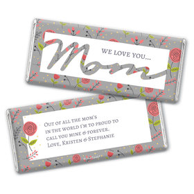 Personalized Mother's Day Motherly Wildflowers Chocolate Bar Wrappers