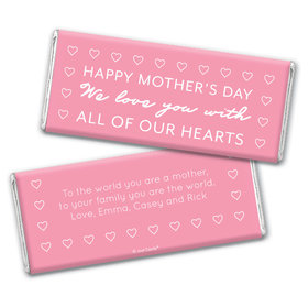 Personalized Mother's Day All Our Hearts Chocolate Bar Wrappers