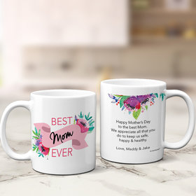 Personalized Mother's Best Mom Ever 11oz Mug Empty
