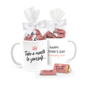 Mother's Day Crown 11oz Mug with approx. 24 Wrapped Hershey's Miniatures