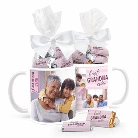 Best Grandma Personalized 11oz Coffee Mug with approx. 24 Wrapped Hershey's Miniatures
