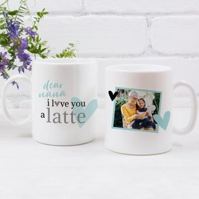 Personalized Mother's Day Coffee Mug (11oz) - I love You a Latte