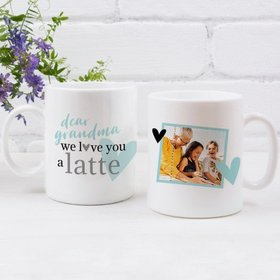 Personalized Mother's Day Coffee Mug (11oz) - We Love You a Latte