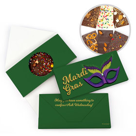 Personalized Masquerade Mardi Gras Gourmet Infused Belgian Chocolate Bars (3.5oz)