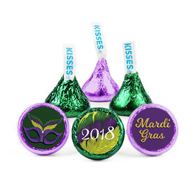 Personalized Hershey's Kisses - Mardi Gras Masquerade (50 Pack)